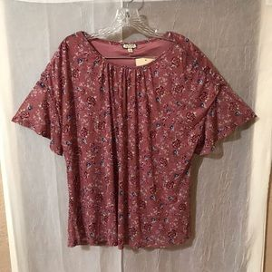 Eyeshadow Fully Lined Rose Water Floral Blouse